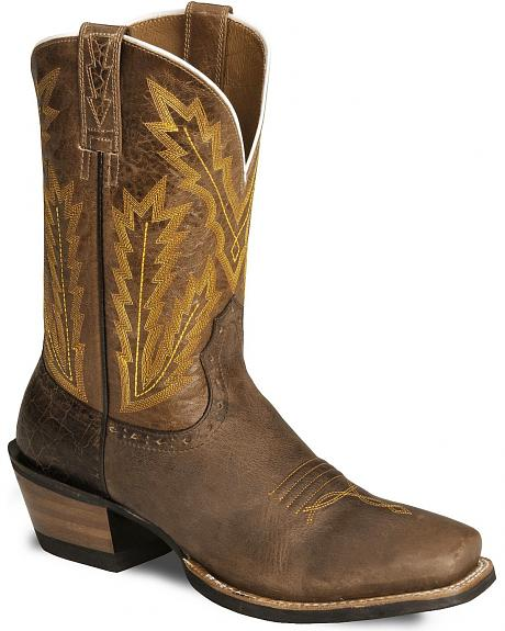 Ariat Brown Adriano Moraes Cowboy Boots - Square Toe