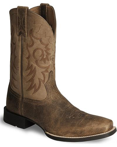 Ariat Heritage Reinsman Cowboy Boots Square Toe Western & Country 10008809