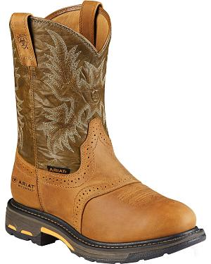 Ariat Brown H20 Workhog Work Boots - Composite Toe
