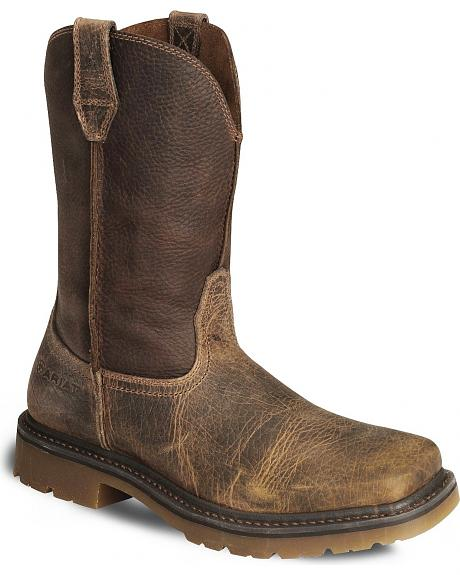 Ariat Earth Rambler Pull On Work Boots Wide Square Toe