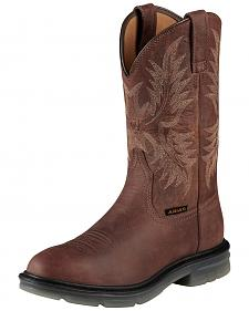 Ariat Brown Maverick II Pull-On Work Boots - Soft Toe