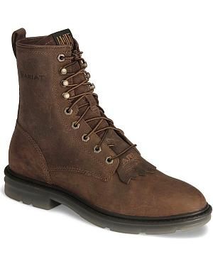 "Ariat Brown Impact II 8"" Lace-Up Boots - Soft Toe"