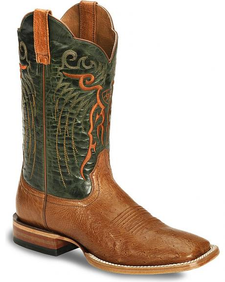 Ariat Mesteno Smooth Ostrich Boot - Wide Square Toe