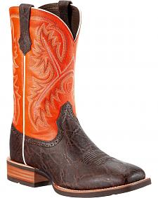 Ariat Men's Quickdraw Elephant Print Boot - Wide Square Toe