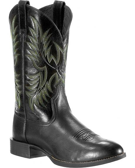 Ariat Stockman Deer Cowboy Boots - Round Toe