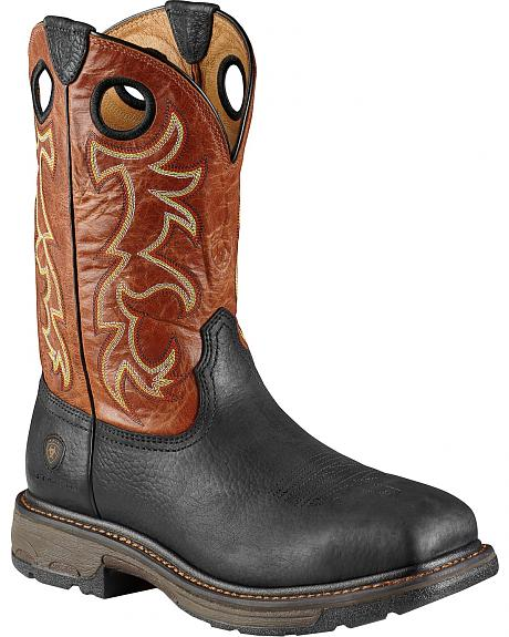 Ariat Work Boots - Wide Square Toe