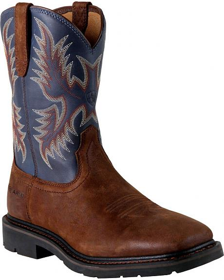 Ariat Sierra Pull-On Work Boots - Square Toe