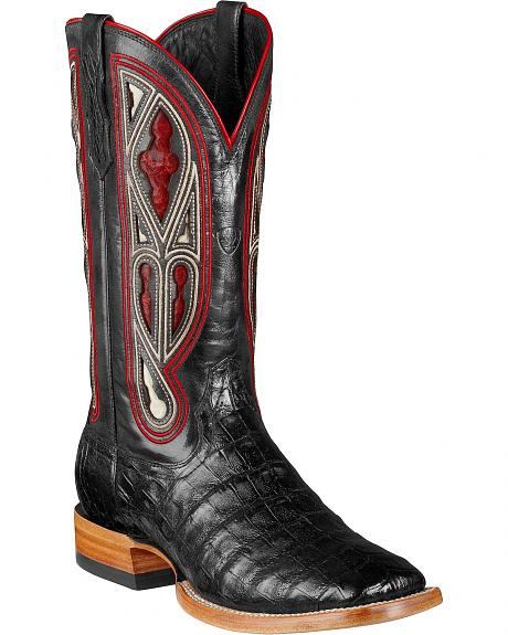 Ariat Tapadero Caiman Belly Cowboy Boots - Square Toe