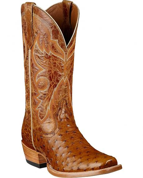Ariat Hotwire Full Quill Ostrich Cowboy Boots - Square Toe