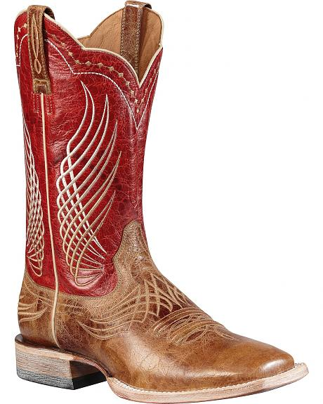 Red Ariat Cowgirl Boots - Boot Hto