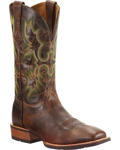 Ariat Tombstone Cowboy Boots Square Toe Western & Country 10010285