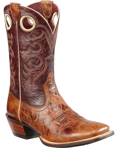Ariat Crossfire Cowboy Boots - Square Toe