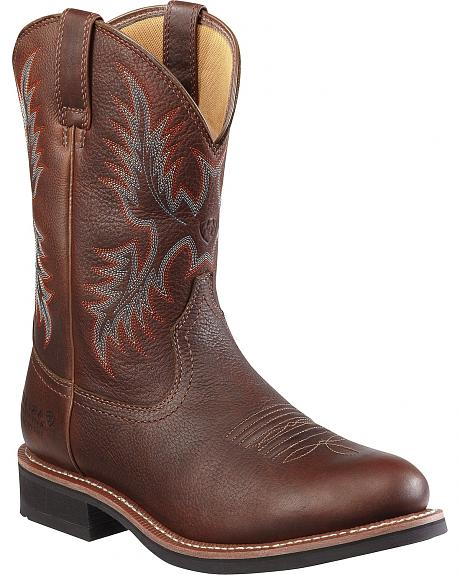 Ariat Heritage Stockman Waterproof Insulated Work Boots - Round Toe