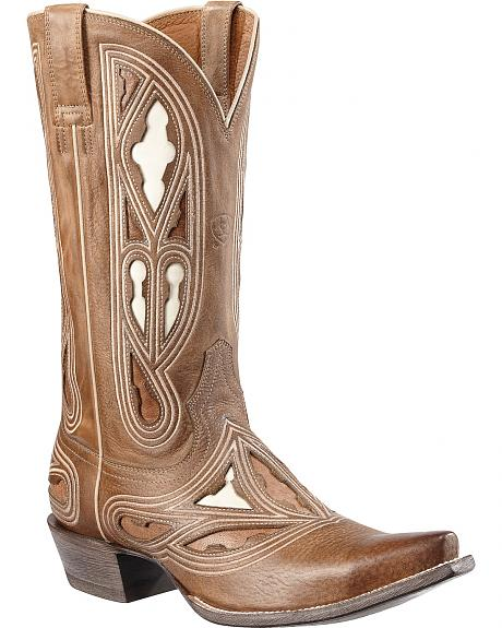 Ariat Leo Inlay Cowboy Boots - Snip Toe