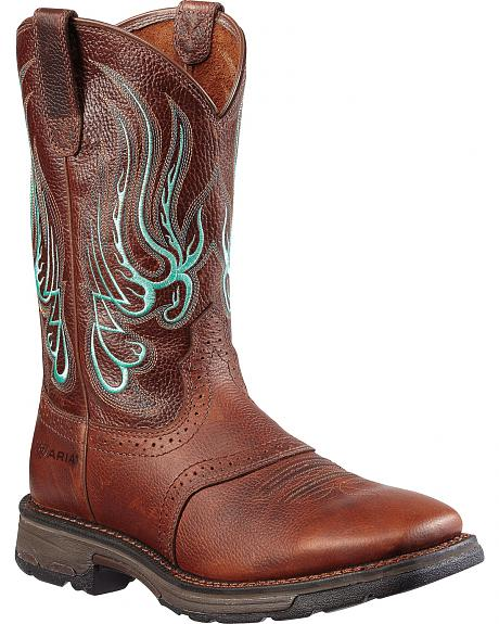 Ariat Mesteno Saddle Workhog Work Boot - Square Toe