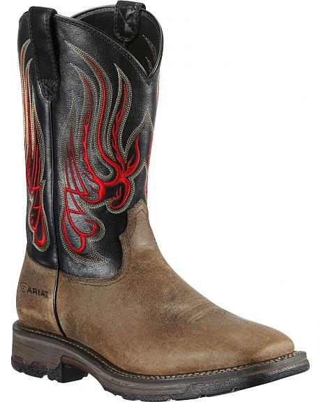 Ariat Mesteno Workhog Work Boots - Square Toe