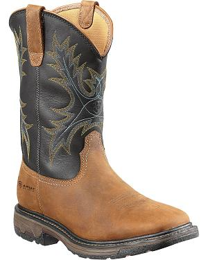 Ariat Workhog Waterproof Work Boots - Square Toe
