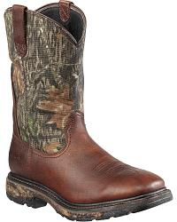 Ariat Workhog Mossy Oak Camo Waterproof Work Boots - Steel Toe at Sheplers