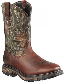 Ariat Workhog Mossy Oak Camo Waterproof Work Boots - Steel Toe