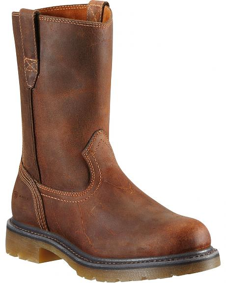 Ariat Drifter Pull-On Work Boots - Round Toe