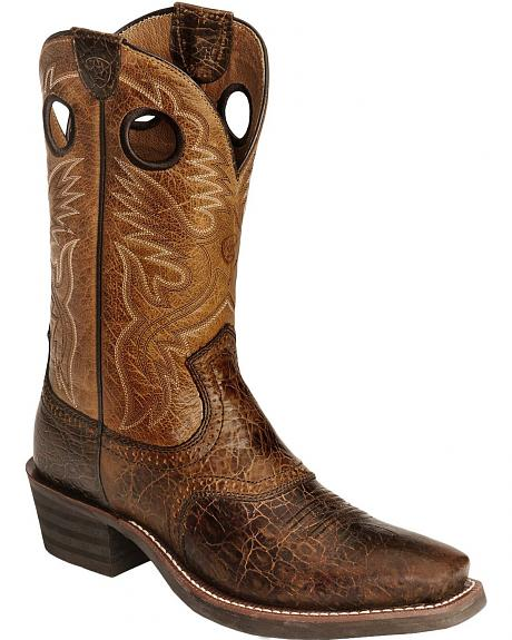 Ariat Men's Heritage Rough Stock Saddle Boots - Wide Square Toe