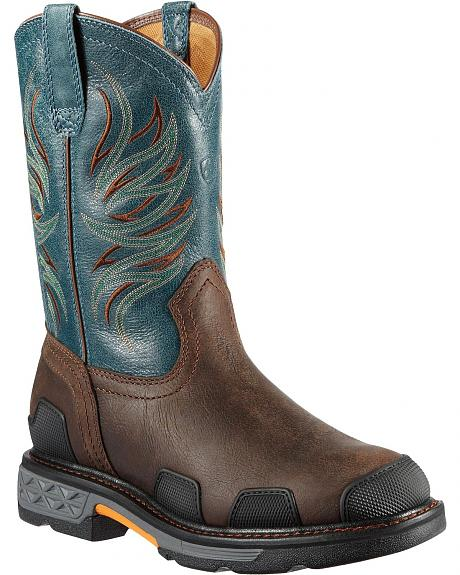 Ariat Overdrive Pull-On Work Boots - Round Toe
