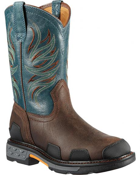 Ariat Overdrive Pull-On Work Boots - Composite Toe