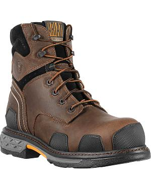 "Ariat Overdrive 6"" Lace-Up Work Boots - Composite Toe"