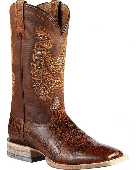 Ariat Rooster Tail Cowboy Boots - Square Toe