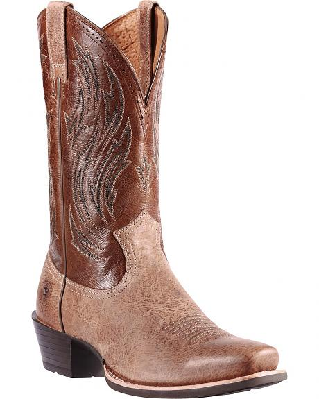 Ariat Hotshot Sand Cowboy Boots - Square Toe