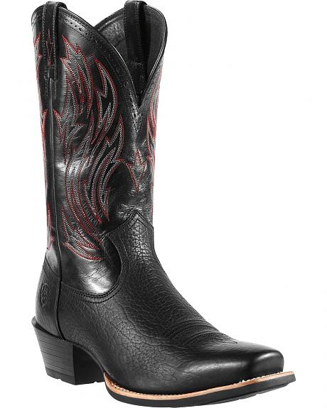 Ariat Hotshot Black Cowboy Boots - Square Toe