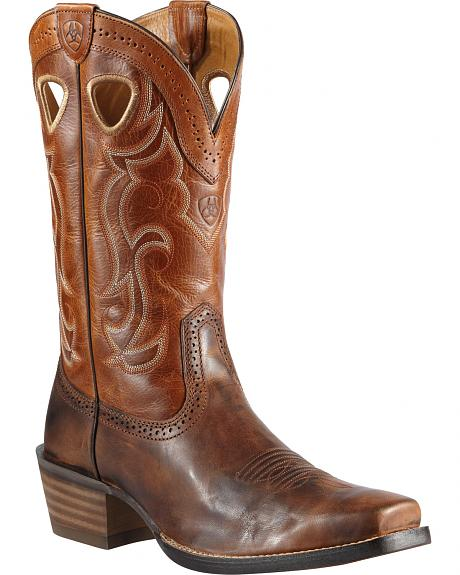 Ariat Rawhide Cowboy Boots - Square Toe