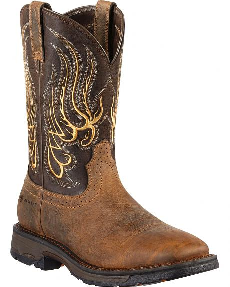 Ariat Workhog Mesteno Work Boots - Square Toe