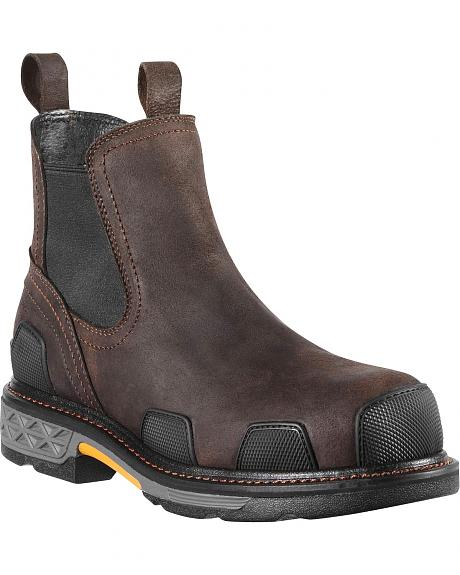 Ariat Overdrive Tradesman Pull-On Work Boots - Composition Toe