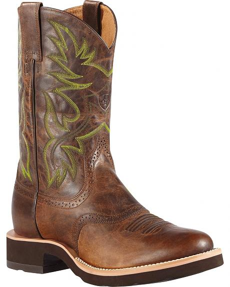 Ariat Heritage Crepe Cowboy Boots - Round Toe