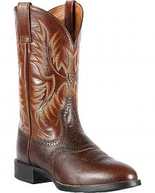 Ariat Heritage Stockman Cowboy Boots - Round Toe