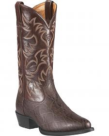 Ariat Heritage Elephant Print Cowboy Boots - Round Toe