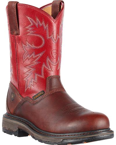 Ariat Workhog Western Pull-On Work Boots Composite Toe Western & Country 10010895