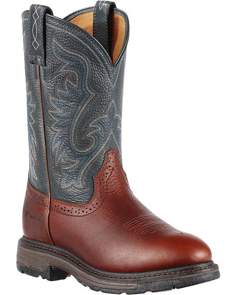 Ariat WorkHog Pull-On Work Boots - Round Toe