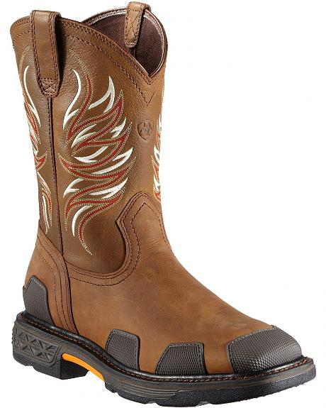 Ariat Overdrive Pull-On Work Boots - Square Toe
