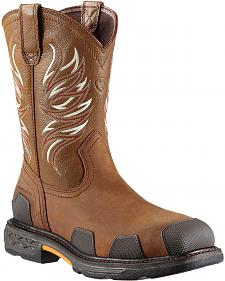 Ariat Overdrive Pull-On Work Boots - Composition Toe