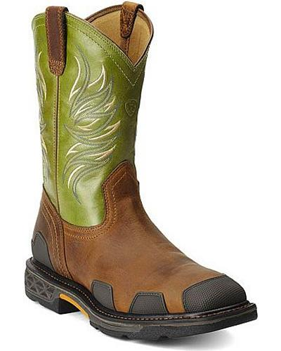 Ariat Overdrive Work Boots Square Toe Western & Country 10011918