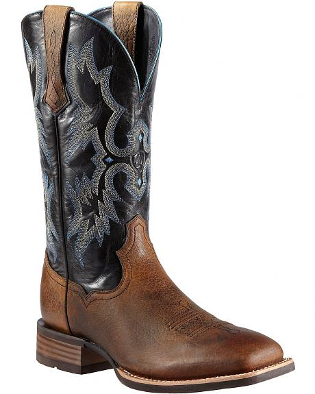 Ariat Tombstone Cowboy Boots - Wide Square Toe