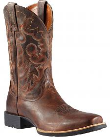 Ariat Weathered Heritage Reinsman Cowboy Boots - Square Toe