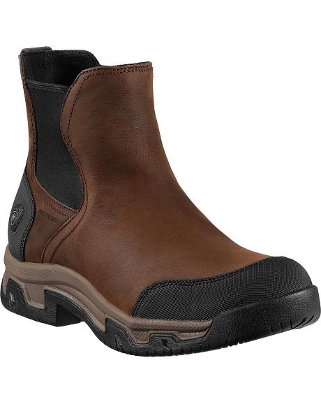 Ariat Langford H2O Slip-On Work Boots - Round Toe