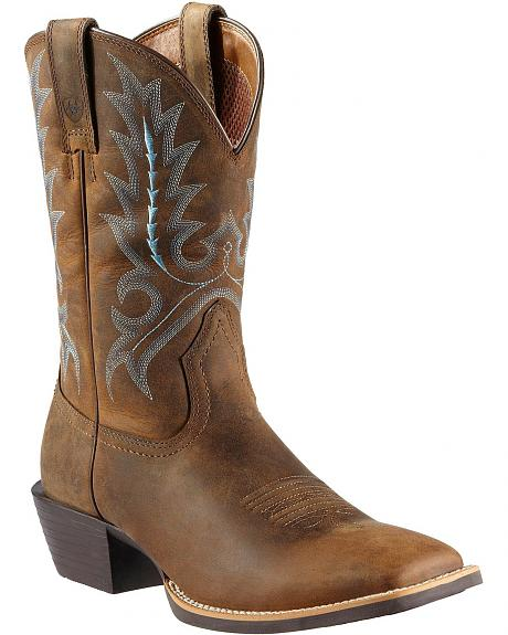 Ariat Sport Outfitter Cowboy Boots - Square Toe