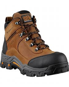 "Ariat WorkHog Trek H2O 5"" Lace-Up Work Boots - Comp Toe"