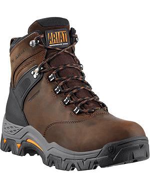 """Ariat WorkHog Trek H20 6"""" Lace-Up Work Boots - Round Toe"""