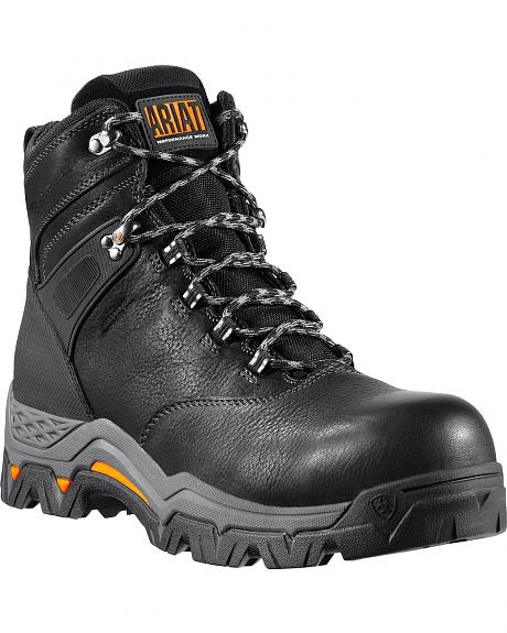 Ariat Black WorkHog Trek H2O 6