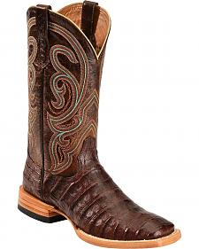 Ariat Stillwater Caiman Belly Cowboy Boots - Wide Square Toe